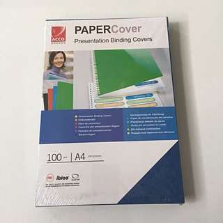(ACCO Brands) Paper Cover Presentation Binding Covers