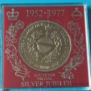 U.K. QEII Silver Jubilee Proof Medal Year 1977 sale 30%