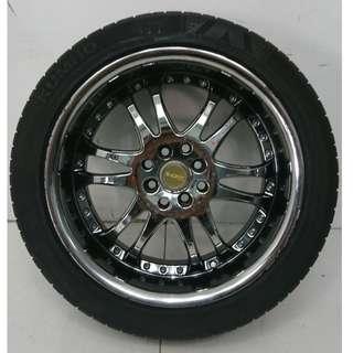 17 '' Sport Rim With Tyre 4x100 4x114.3 (SR852)