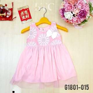 [READY STOCK]  🌸 Flower Dress with Ribbon