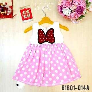 [READY STOCK]  🌸 Mini Ribbon Polkadot Dress