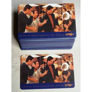 Vintage Tiger Beer phonecards