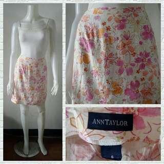 Ann Taylor Dainty Floral Skirt