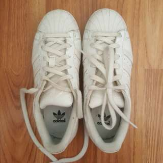 Adidas superstar all white fits AU 6-6.5