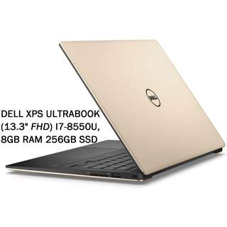 "Dell XPS Ultrabook - 13.3"" - Core i7 8550U - 8GB RAM - 256GB SSD (Gold)"