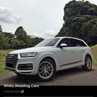 Audi Q7 White Wedding Cars