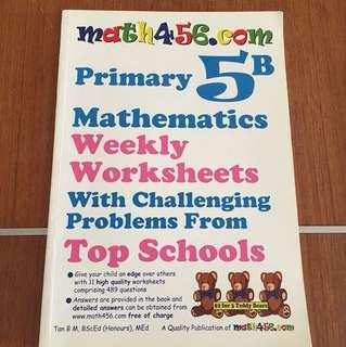Primary 5B weekly worksheets