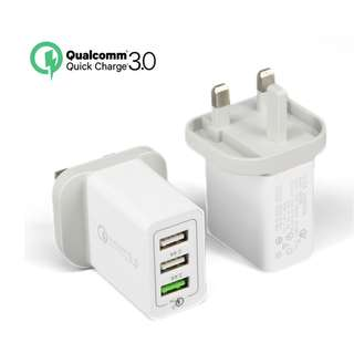 $120@2 快充火牛 Qualcomm Certified QC3.0 Quick Charge 3 Port 6A USB Fast Charger