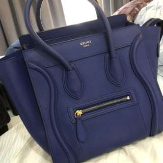 Celine micro 彩藍色 100% real 90%new