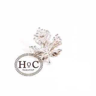 Houseofcuff Collar Bar Lapel Pin Bros Jas Wedding Best Man SILVER MAPLE PIN