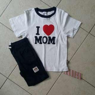 I Love Mom Tshirt set