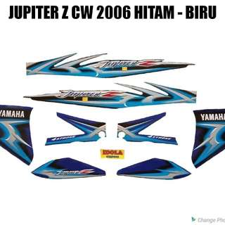 Striping Jupiter Z CW 2006 Hitam - Biru