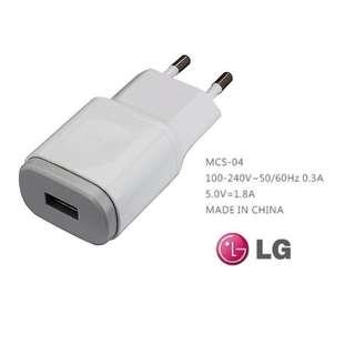 LG MCS-04 5V /1.8A 原廠旅充頭 充電器 (兩圓腳) 適用於G2, G3, G4, K10, G Pro 2, G Pro 等