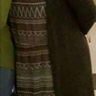 Long cardigan (when worn)