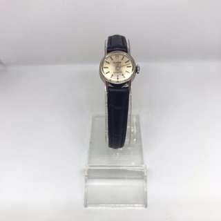 帝陀18k 白金古董機械錶