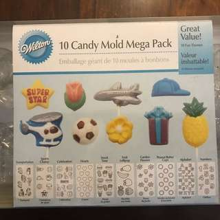 Wilton 10 Pack Candy Mold Set