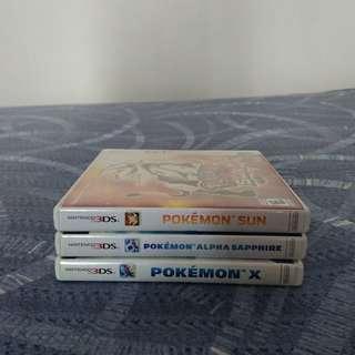 Pokemon 3DS Games (X, Alpha Sapphire & Sun)