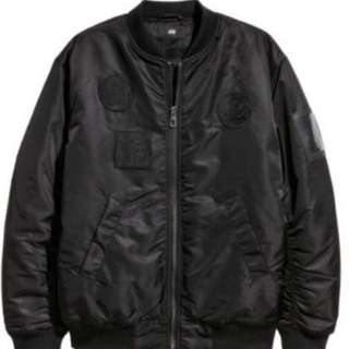The Weeknd x h&m bomber