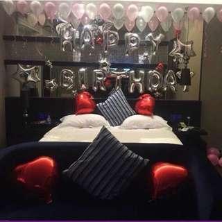 Happy Birthday Balloons (with hearts)