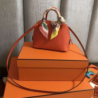 Hermes Bolide 1923 mini Orange Poppy Mysore