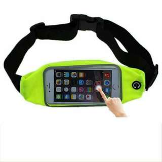 Waterproof Sport Running Waist Belt pouch Reflective stripe Bag Gym Hanging Elastic Adjustable Waistband