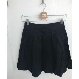 XS Zara Black Pleated Mini Skirt