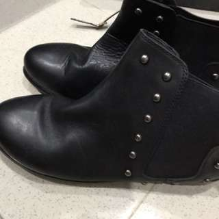 Covered ankle high boots