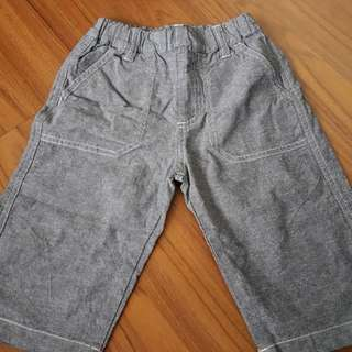 Muji cotton denim pants