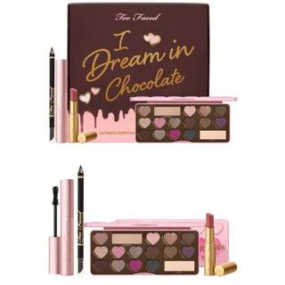 (Pre-order) Too Faced I dream In Chocolate Make Up Collection