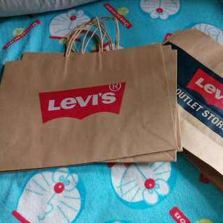 Levi's paper bag big size total 7