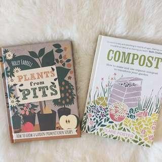 Hardcover plants/compost books