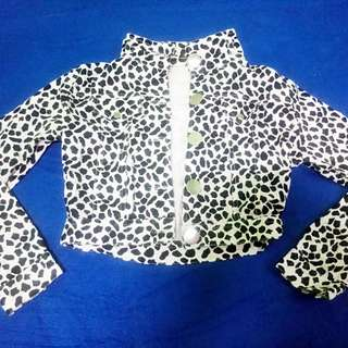 Spotted Cropped Jacket