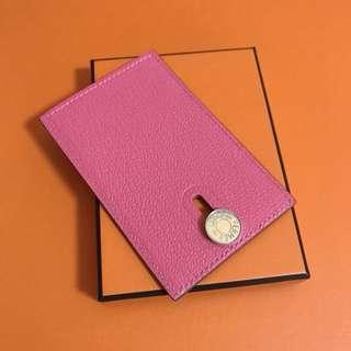 Hermes Diabolo Card Holder pink lipstick Mysore