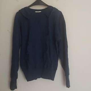 Sweater Hoodie Navy Blue