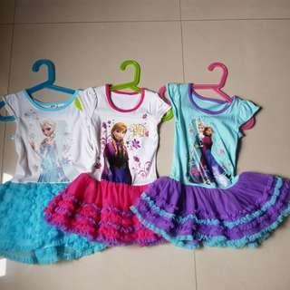 Frozen tutu dress 3-5