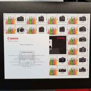 限量版Canon 單反50週年紀念郵票boxset