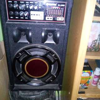 Speakers for karaoke usb and sd card radio with lights 10000 watts p.m.p.o