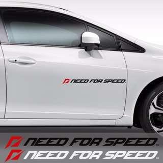 Need For Speed Car Vinyl