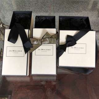 Jo Malone / Chanel / Hermes gift boxes
