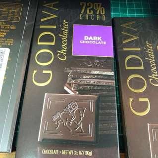Godiva 72% chocolate