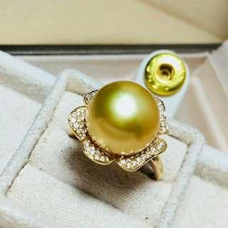 南洋金珠戒指