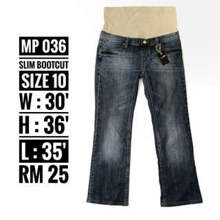 Maternity Jeans - MP 036 ( NP RM 25)