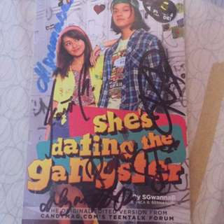 She's Dating The Gangster book (signed)