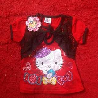 Tshirt anak Hello Kitty Diskon 50%