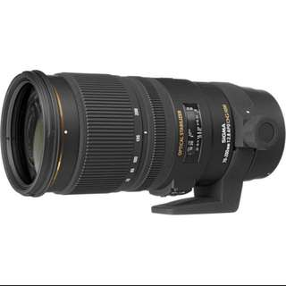 Sigma 70-200mm f/2.8 EX DG APO OS HSM Canon and nikon