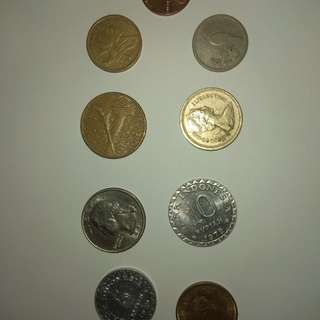 Old Pre - European Union coins and some old coins for sale