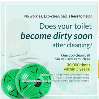 Auto Cleaning Toilet Ball - Chemical Free!!