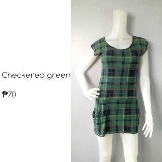 Checkered green