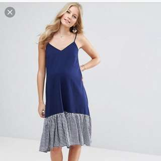 ASOS Maternity Dress (Gingham hem) Size 6