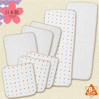 日本制 日本西松屋紗巾一套8條